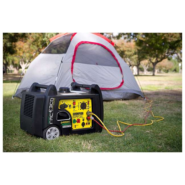 100263 Champion 3400-Watt Portable Dual Fuel Inverter Generator 5