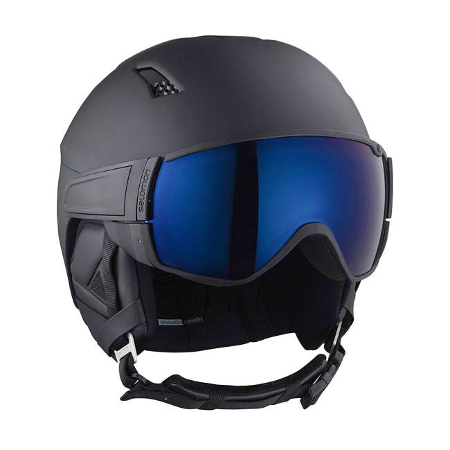 L40534500-L Salomon Driver S Snow Sports Black Visor Helmet, Large (2 Pack) 1