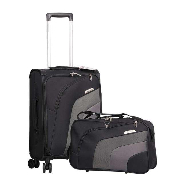 AERO9427 21 + FB9427 BLACK FBA Aerolite Ultra Lightweight Airline Approved Carryon & Under-Seat Suitcase, Black
