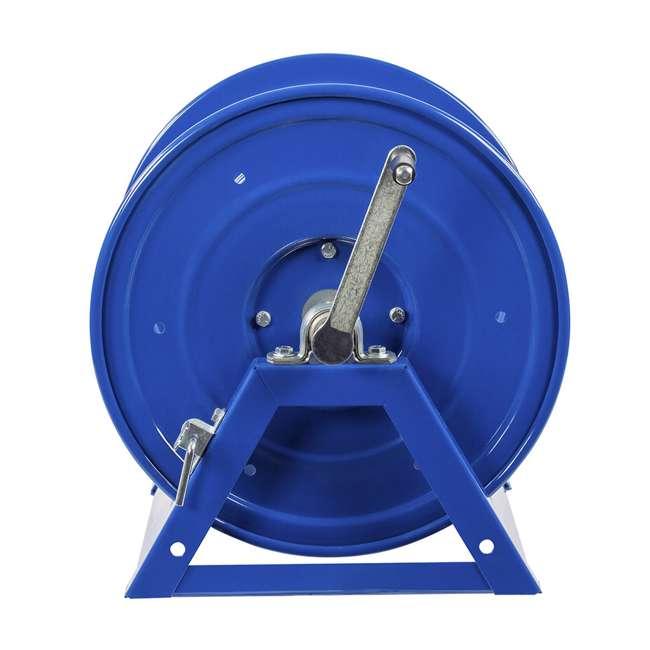 1125-4-100 Coxreels Steel Hand Crank Hose Reel 100 Foot Capacity, Blue 1