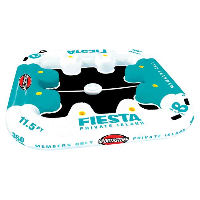 6 x 54-2010 Sportsstuff Fiesta Island Raft with Cooler (6 Pack) 1