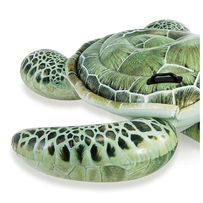 57555EP-U-B Intex Realistic Sea Turtle Inflatable Ride-On Pool Float with Handles (Used) 2
