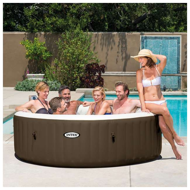 28407VM Intex PureSpa 6-Person Portable Inflatable Bubble Jet Hot Tub 2