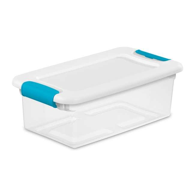 12 x 14928012 + 4 x 14998004 Sterilite 6 Qt Clear Storage Box Container 12 Pack and 106-Qt Storage Box 4 Pack 1