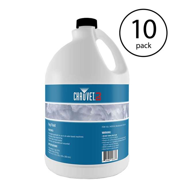 10 x FJU Chauvet Fog Juice Fluid (1 Gallon) (10 Pack)