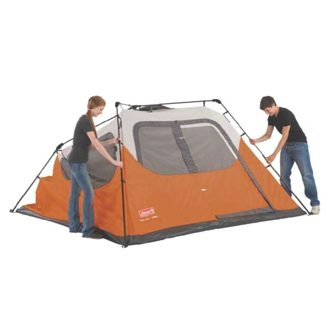 2000017933 + ENGCB2-P1SL Coleman Outdoor 6-Person Camping Tent & 24 Can Backpack Cooler 8