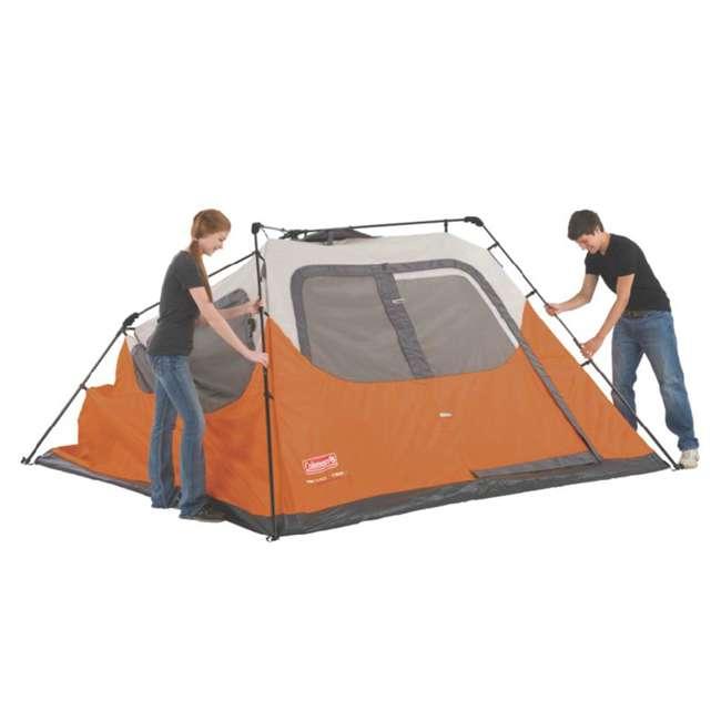 2000017933 + RIORC109TB-61 Coleman Outdoor 6-Person Camping Tent & 77 Quart Rolling Cooler 8