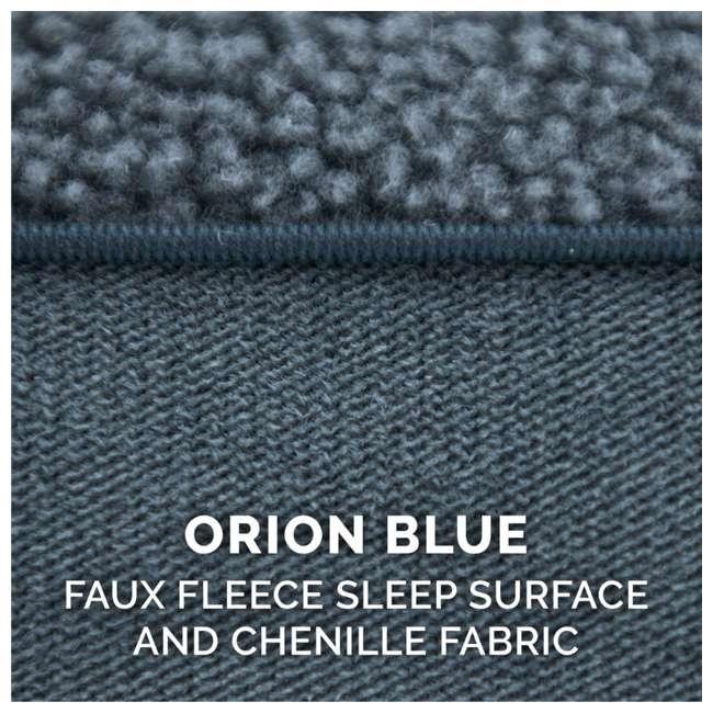 85503225BX Furhaven Cooling Gel Memory Foam Faux Fleece Couch Pet Bed, Orion Blue, Jumbo 8
