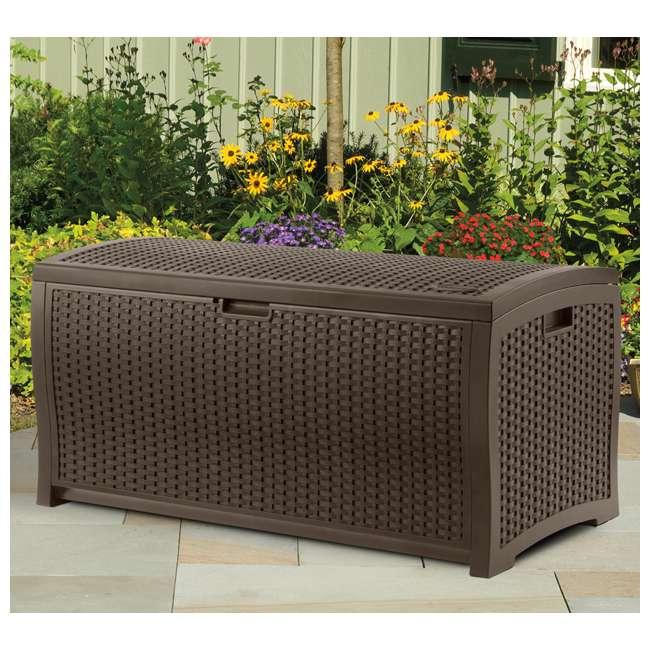 BMOC4100 + DBW7300 Suncast 97 Gal Backyard Storage Entertaining Station & 73 Gal Outdoor Deck Box 3
