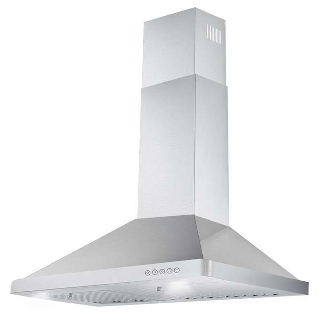COS-63175 Cosmo COS-63175 30 Inch Wall Mount Range Hood with Push Control, Stainless Steel 1