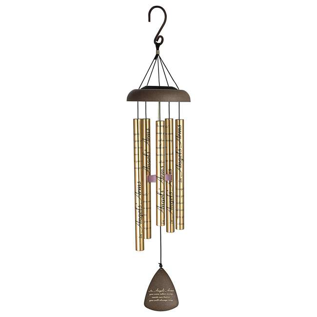 60501 Carson Home Accents 60501 30 Inch Solar Sonnets Angle's Arms Outdoor Wind Chime