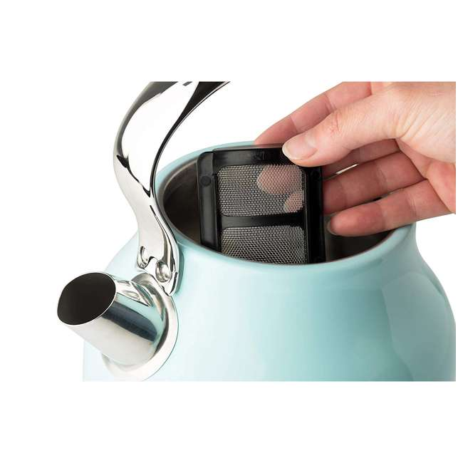 75004-HD Haden Heritage 1.7 Liter Stainless Steel Body Retro Electric Kettle, Turquoise 3