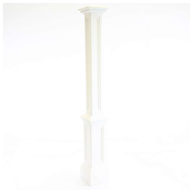 MO-5835-B Mayne 6 Foot Plastic Outdoor Signature Lamp Post with Steel Ground Mount, Black 2