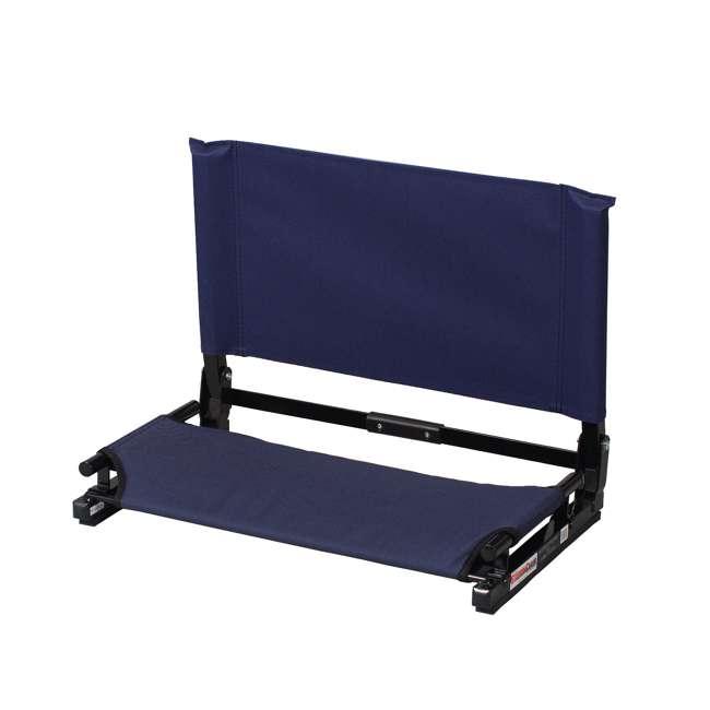 WSC2-NAVY Stadium Chair Deluxe Game Changer Folding Bleacher Seat, Navy Blue