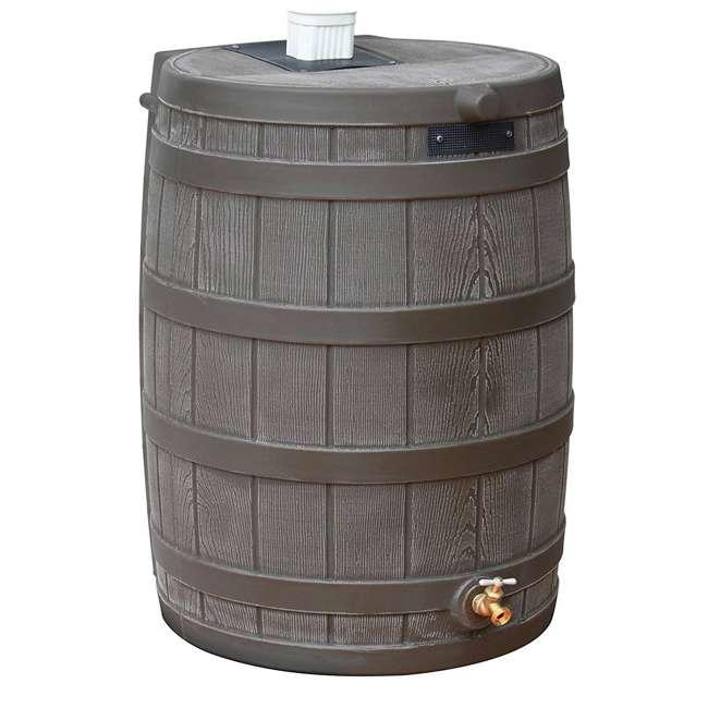 5 x RW50-OAK Good Ideas Rain Wizard 50 Gallon Plastic Rain Barrel with Brass Spigot (5 Pack) 1