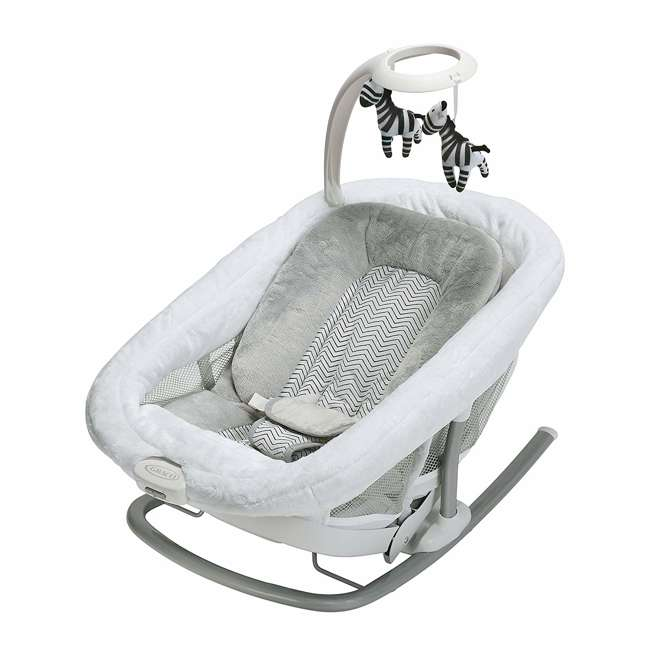 2065966 Graco 2065966 Duet Glide LX Baby Infant Gliding Swing and Napper, Zagg Gray 5