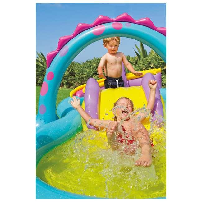 57135EP Intex Dinoland Play Center Kiddie Inflatable Slide Swimming Pool & Games (Used) 1