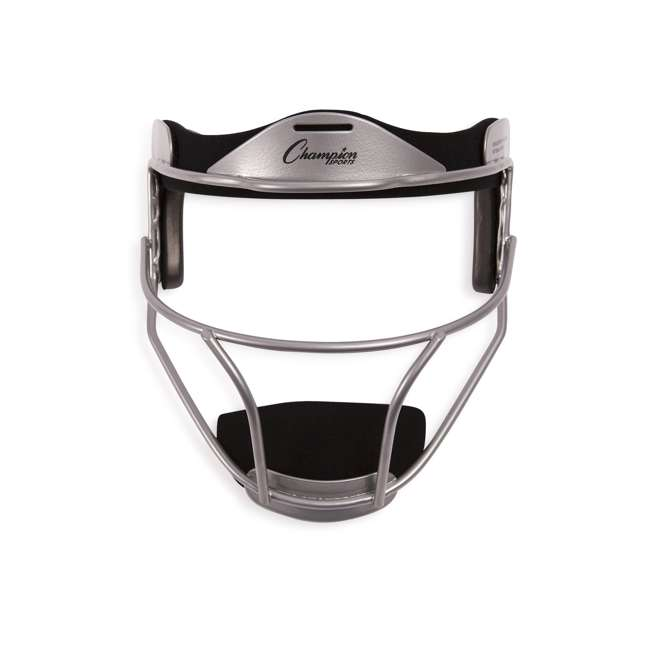 FMASL Champion Sports FMASL Adjustable Adult Softball Fielder's Face Mask, Silver