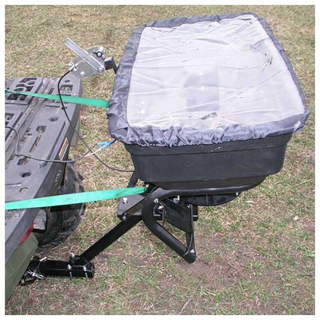 FIELD-AS-125ATV12 Field Tuff 12V ATV Hitch-Mount Grass, Seed, and Fertilizer Spreader 1