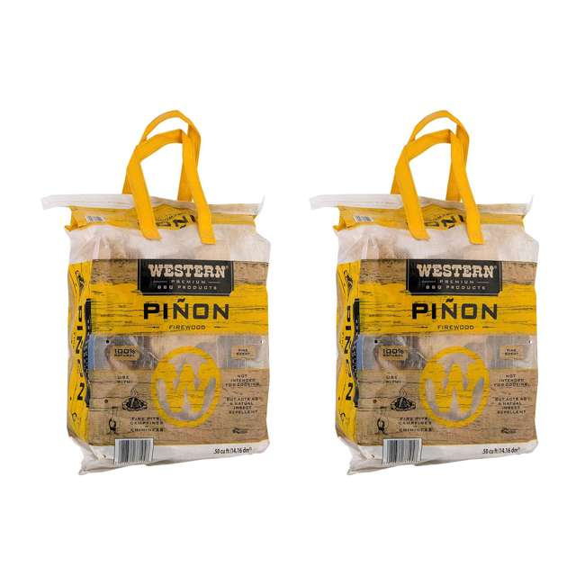 78104 Western BBQ Pinon Log Wood Pellet Firewood for Camp Fires & Fireplaces (2 Pack)