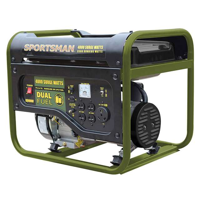 BFT-GEN4000DF Sportsman GEN2000DF 4000 Watt Portable Dual Fuel Generator, Black