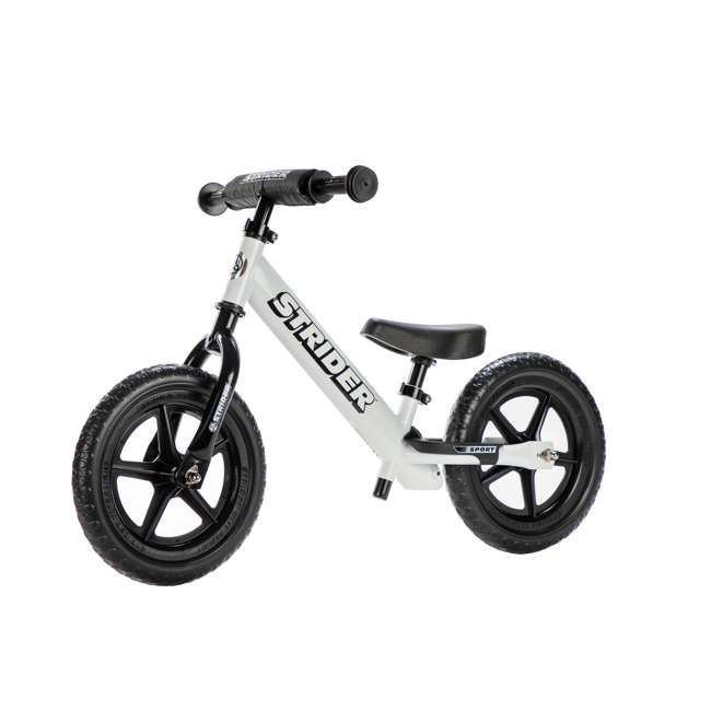 ST-S4WT Strider 12 Sport Balance Kids Learning Bike, White