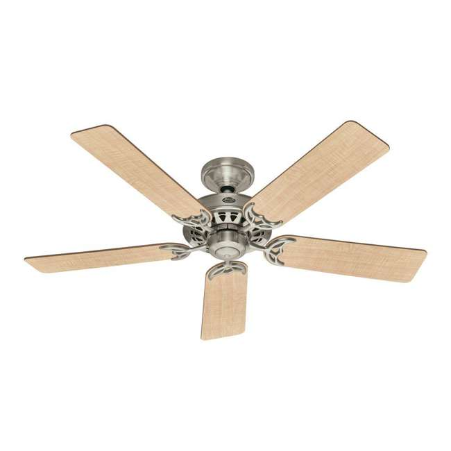 26418 Hunter 159919 Architect 52 Inch 5 Blade Reversible Ceiling Fan, Maple/Chestnut