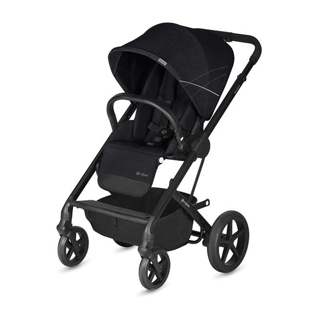 518001059-U-A Cybex Balios S 3 in 1 Folding Stroller, Lava Stone Black (Open Box)