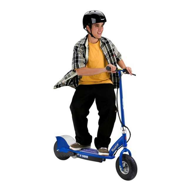 13113697 + 13113640 Razor E300 Electric Motorized Scooters, 1 Red & 1 Blue 4