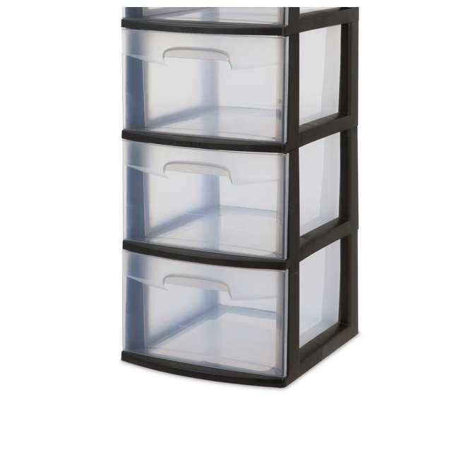 8 x 28959002-U-A Sterilite 5 Drawer Tower Plastic Storage Organizer, Black (Open Box) (8 Pack) 1