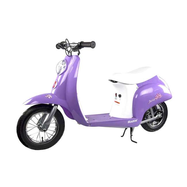 15130661 + 97784 Razor Pocket Mod Electric Powered Kids Retro Scooter & Helmet 2