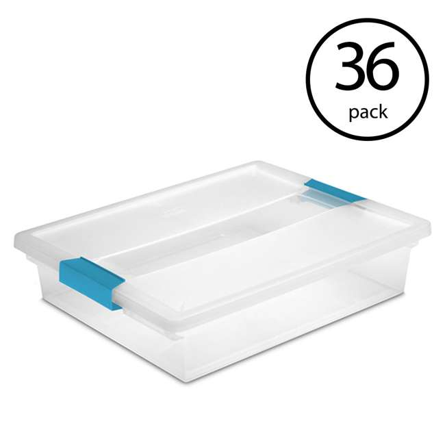 36 x 19638606 Sterilite Large Clip Box (36 Pack)