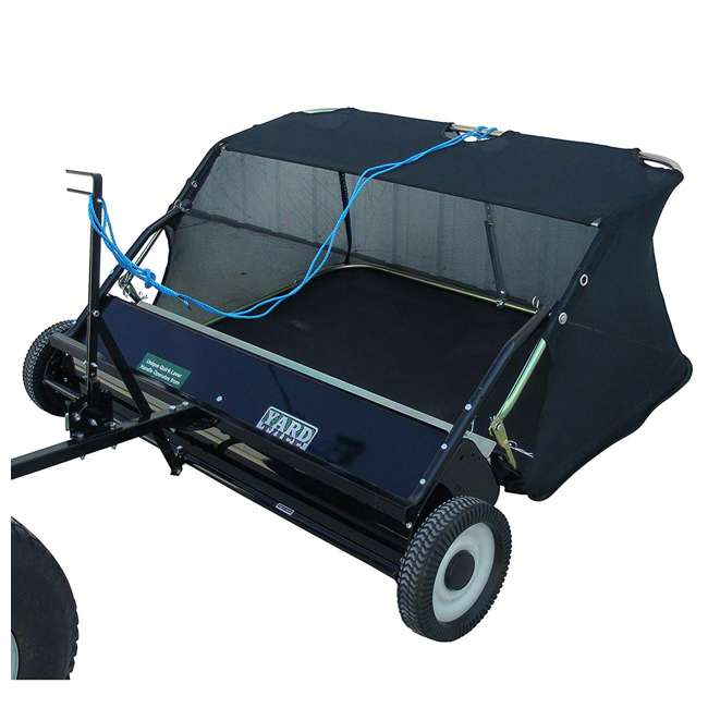 """YARD-YTF-38STQA Yard Tuff 38"""" Quick Assembly Tow Style Lawn Sweeper for Debris, Leaves, & More 1"""