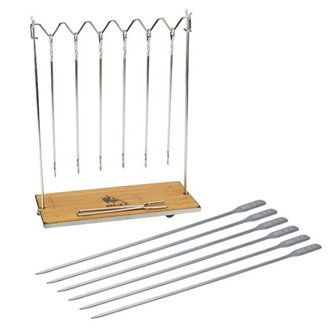 BOPA-24207 + BOPA-24281 Bull Skewer Sticks Station & Mini Signature Flat Skewer (6 Pack)
