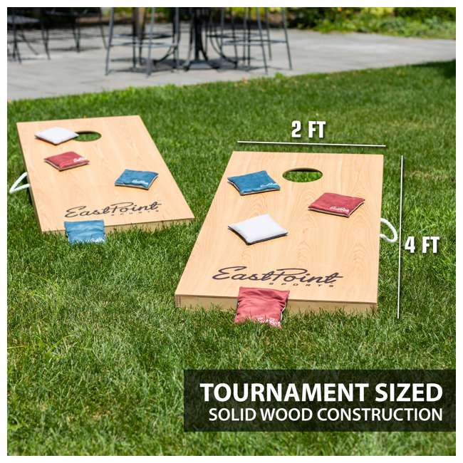 1-1-16947-DS Eastpoint Sports 1-1-16947-DS Tournament Size Legacy Cornhole Beanbag Toss Set