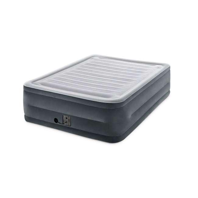 3 x 64417EP-U-A Intex Plush High Rise Dura Beam Airbed w/ Built-In Pump, Queen(Open Box)(3 Pack) 1