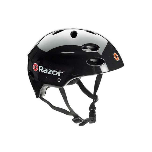 13110097 + 97778 Razor E100 Black Electric Scooter And Razor V17 Youth Helmet 2