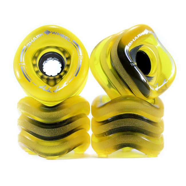 1000S70MMS78ATA-OB Shark Wheel Sidewinder 70mm 78A Skateboard Wheels, Amber (Open Box)