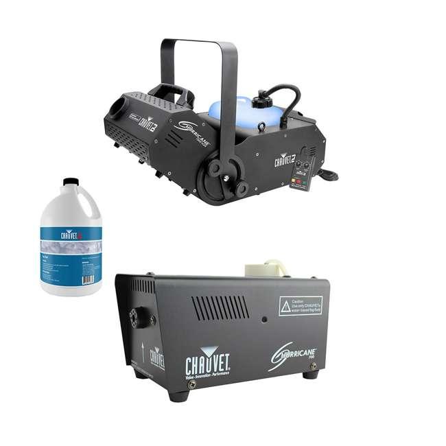 H1800FLEX + H700 + FJU Chauvet Smoke Pro Machine w/ Hurricane Pro Smoke Machine & Fluid for Fog Machine