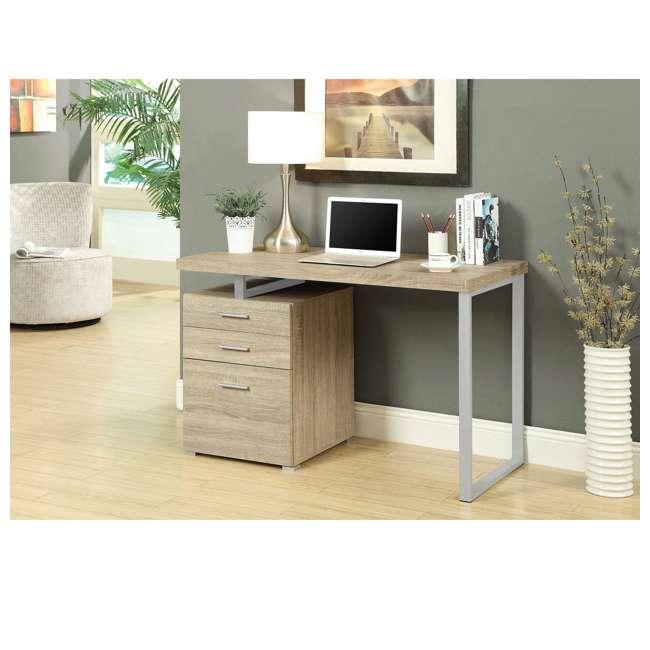 VM-7226 Monarch Specialties 48 Inch Industrial Design Office Computer Desk, Natural 2
