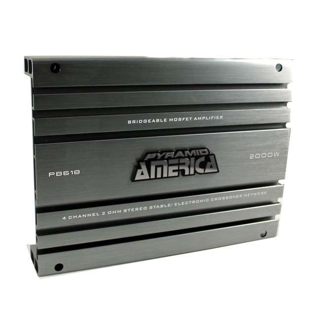 PB618 Pyramid PB618 2000-Watt 4-Channel Amplifier (2 Pack) 2