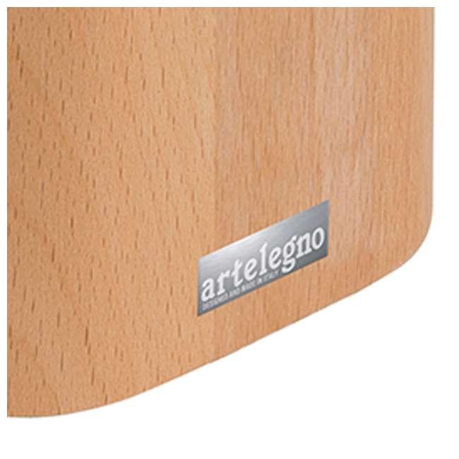 LEGNO-16 Arte Legno Natural Beechwood Wooden 8 Piece Steak Kitchen Knife Block Holder 1