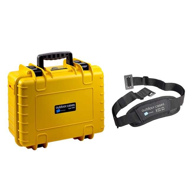 4000/Y/RPD + CS/3000 B&W International RPD Insert Plastic Outdoor Waterproof Case and Carry Strap
