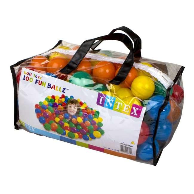 49602EP 100-Pack Intex Small Plastic Multi-Colored Fun Ballz 5