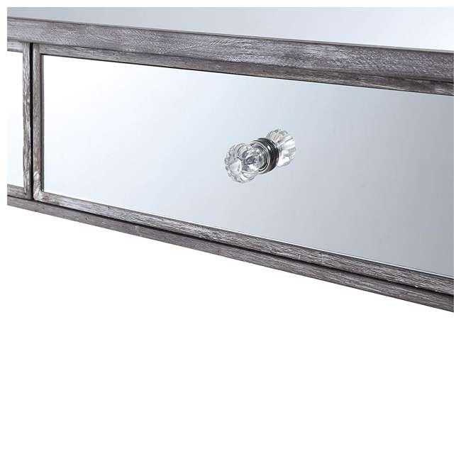 U12-178 Convenience Concepts U12-178 Gold Coast Mirrored Desk Vanity, Weathered Gray 4