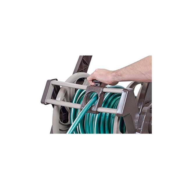 AMES-2384680NL NeverLeak 250 Hose Cart and Guide with 250 Foot Capacity, Tan 2
