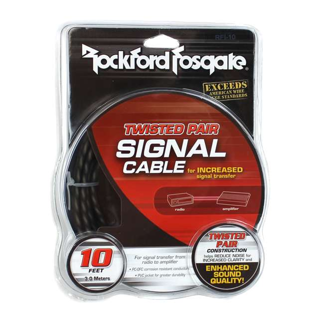 RFI-10 Rockford Fosgate RFI-10 10' Feet Twisted 2 Channel Rca Signal Cable 3