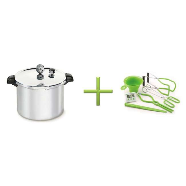 01755 + 09995 Presto 01755 16 Quart Pressure Cooker with Canner Tool Set