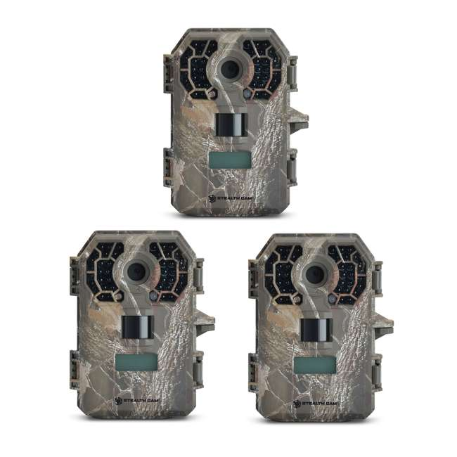 3 x STC-G42NG Stealth Cam G42NG 10MP HD Video IR Game Trail Camera (3 Pack)