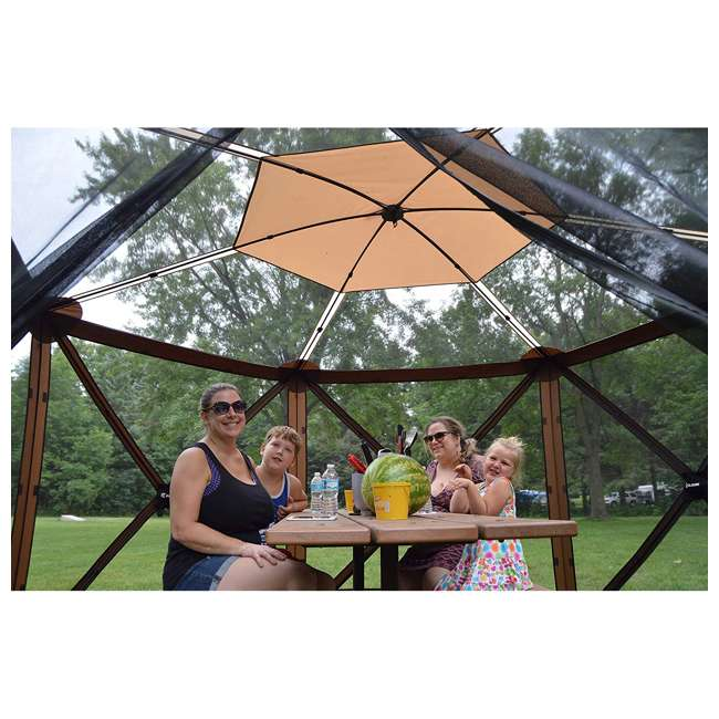 CLAM-ESSS-12873 Clam Quick-Set Escape Sky Portable Outdoor Gazebo Canopy 4